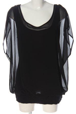 Street One Blusa trasparente nero stile casual