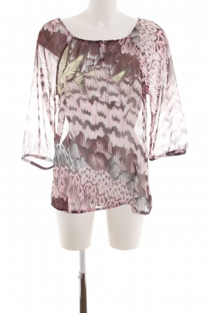 Street One Transparenz-Bluse Allover-Druck Casual-Look