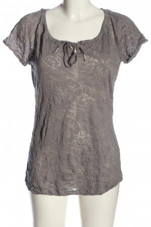 Street One Transparenz-Bluse hellgrau Casual-Look