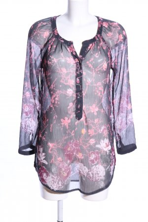 Street One Transparenz-Bluse Blumenmuster Casual-Look