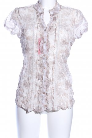 Street One Transparenz-Bluse abstraktes Muster Casual-Look