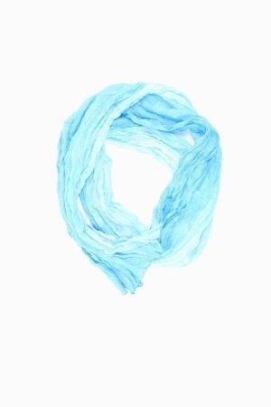 Street One Summer Scarf blue-neon blue-dark blue-azure silk