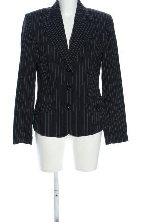 Street One Tweedblazer schwarz-weiß Allover-Druck Business-Look