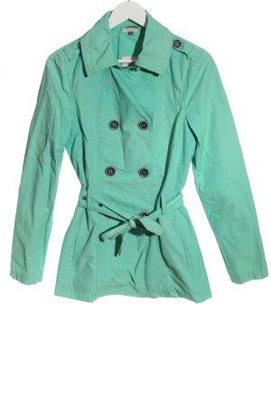 Street One Between-Seasons-Coat turquoise business style