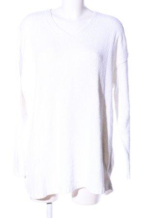 Street One V-Ausschnitt-Pullover weiß Casual-Look