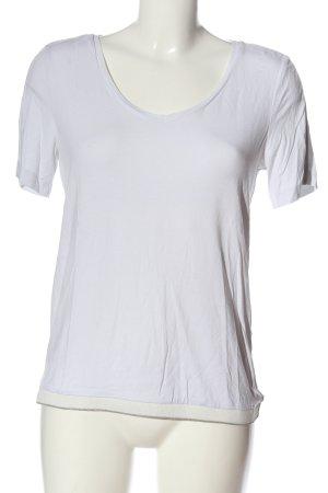 Street One V-Ausschnitt-Shirt weiß Casual-Look