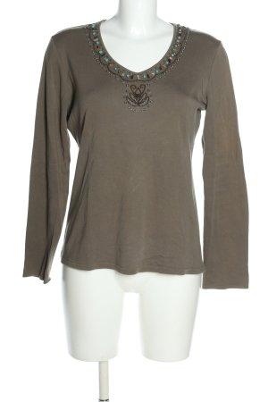 Street One V-Ausschnitt-Shirt khaki-türkis Casual-Look