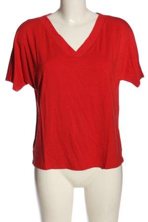 Street One Koszulka z dekoltem w kształcie litery V czerwony Elegancki