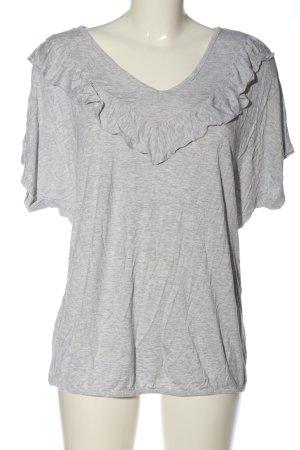 Street One V-Ausschnitt-Shirt hellgrau meliert Casual-Look