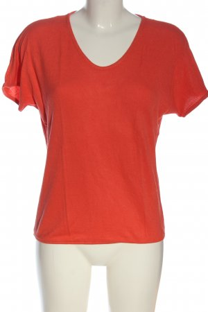 Street One V-Neck Shirt red allover print casual look