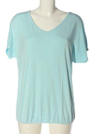 Street One V-Ausschnitt-Shirt türkis Casual-Look
