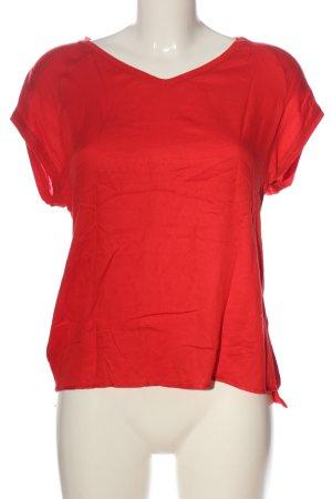 Street One V-Ausschnitt-Shirt rot Casual-Look