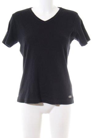 Street One V-Ausschnitt-Shirt schwarz Casual-Look