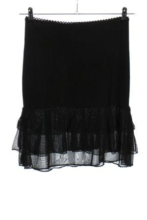 Street One Spódnica z falbanami czarny Elegancki