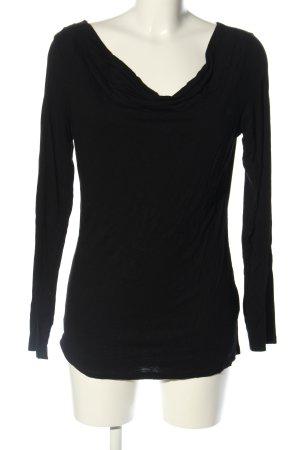 Street One Koszulka z dekoltem woda czarny W stylu biznesowym