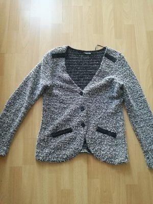 Street One Knitted Blazer black-white mixture fibre