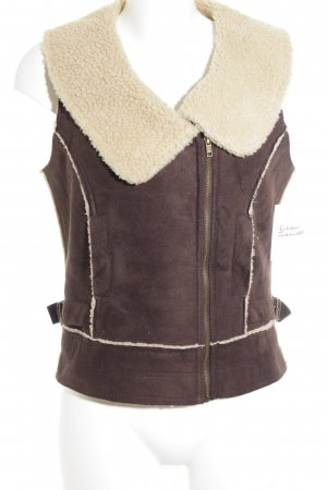 Street One Reversible Vest dark brown casual look