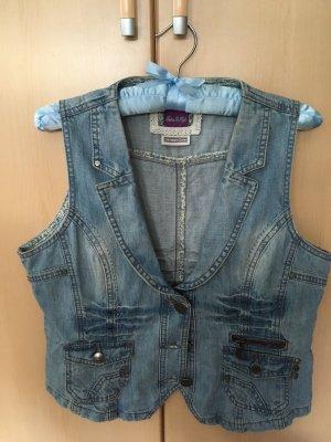 Street One Gilet en jean bleu