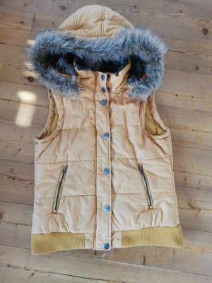 Street One Hooded Vest yellow