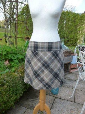 Street One Wool Skirt grey brown-dark brown