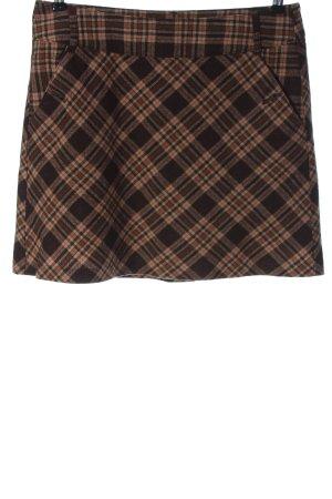 Street One Jupe en laine brun-blanc cassé motif à carreaux style décontracté