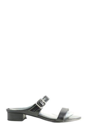 Street Riemchen-Sandaletten schwarz Casual-Look