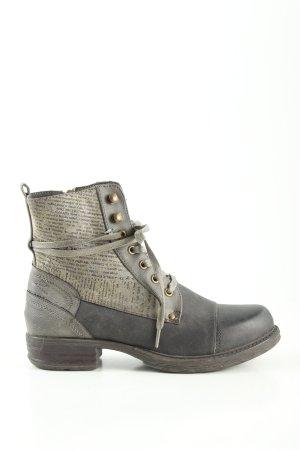 Street Shoes Ankle Boots hellgrau Schriftzug gedruckt Casual-Look