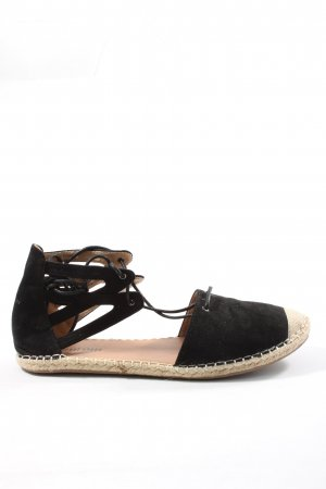 Street Shoes Espadrille noir style décontracté