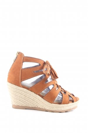 Street Shoes Wedge Sandals brown casual look