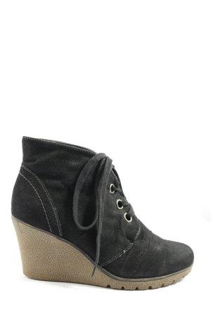 Street Super Shoes Wedge Booties black casual look