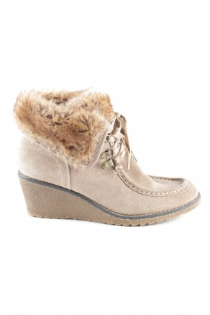 Street Super Shoes Keil-Stiefeletten creme Casual-Look