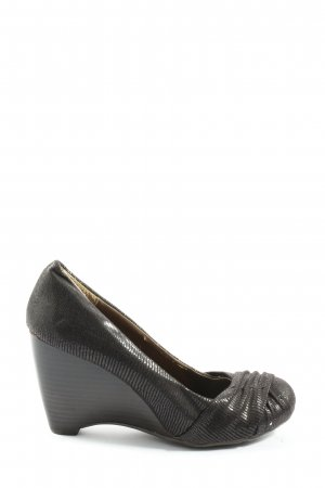 Street Super Shoes Plateau-Pumps schwarz Animalmuster Casual-Look
