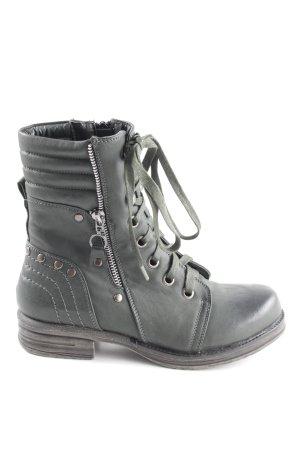 Street Super Shoes Reißverschluss-Stiefeletten khaki Casual-Look