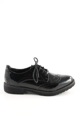 Street Super Shoes Schnürschuhe schwarz Business-Look