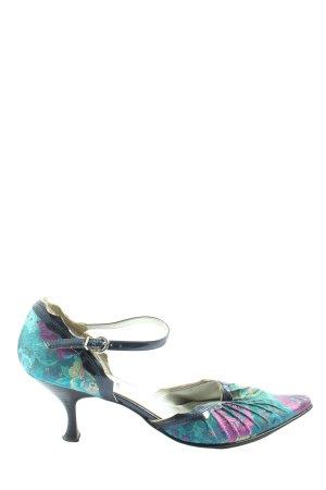 Street Super Shoes Spitz-Pumps türkis-lila Blumenmuster Elegant