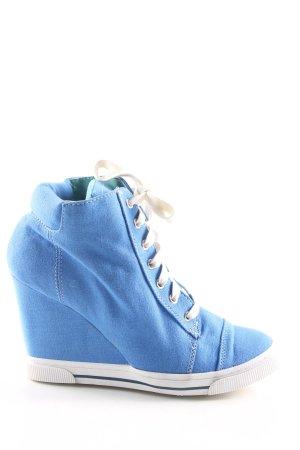 Street Super Shoes Wedge Sneaker blau Casual-Look