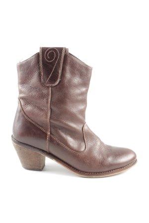 Street Super Shoes Botines estilo vaquero marrón look casual