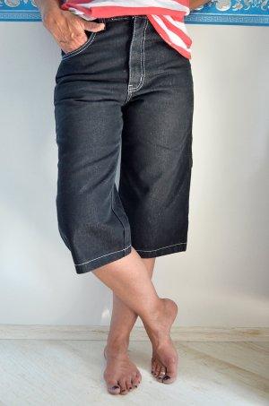 Streetwear Skaterhose Jeans Baggypants Culotteschnitt Patches Neunziger Trash Metallic