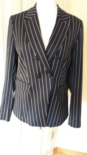 Streifen Blazer mit Etikett von Promiss NEU Gr. 40 nachtblau mit sehr feinen weißen/roten Streifen