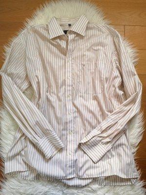 Streifen hemd - beige - Neu