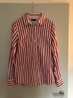 Tommy Hilfiger Camisa de manga larga blanco-rojo ladrillo