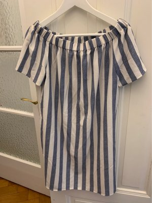 Only Off-The-Shoulder Dress white-blue