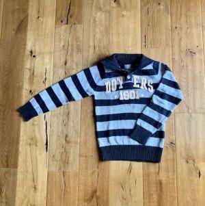 Streifen Pullover Baumwolle schicker Kragen