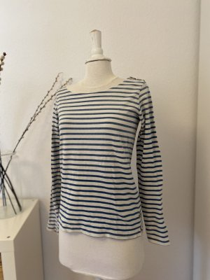 Maison Scotch Crewneck Sweater white-azure cotton