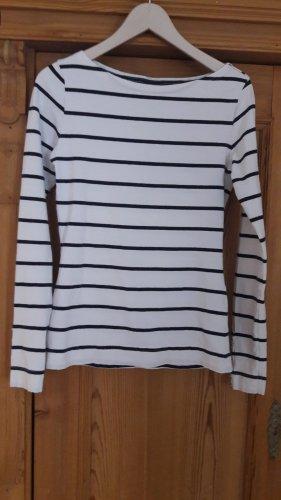 H&M L.O.G.G. T-shirt rayé blanc-bleu foncé coton
