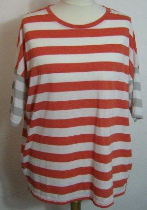 Streifen Shirt Größe 48/50 Rot Weiß Grau