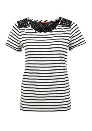 Streifen-Shirt mit Spitze