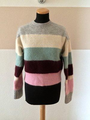 Streifen Strick Pullover Wool Blend von H&M, Gr. XS (NEU)