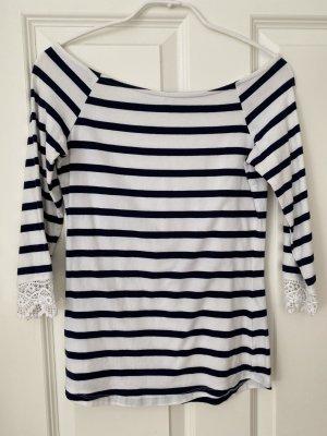 Mint&berry Stripe Shirt white-dark blue