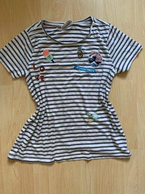 Streifen T-Shirt  mit Applikationen Sommer